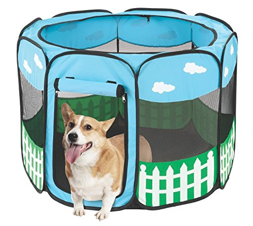Pet Portable Foldable Play Pen Exercise Kennel Dogs Cats ...