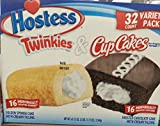 Hostess Twinkies & CupCakes 32 Count Variety Pack Total 47.13 oz