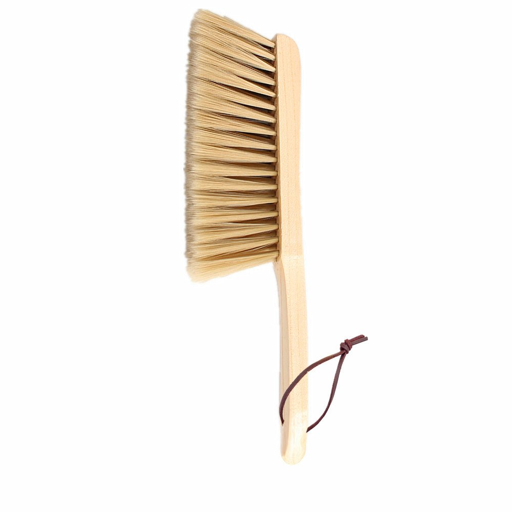 Huibot Bamboo Hand Broom Soft Bristle Long Handle Natural Dusting Brush Cleaner
