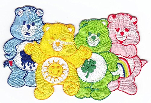 Embroidered Applique Iron / Sew on Patch Care Bear, Several models to choose (4 (Jean Bear)