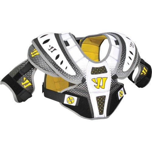 Warrior Adrenaline X1 Hitman Lacrosse Shoulder Pad (Large, White)