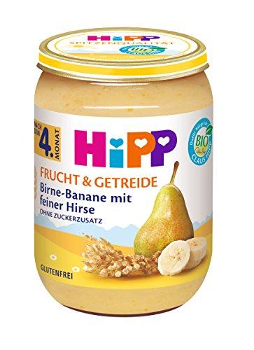 Hipp Frucht & Getreide, Birne-Banane mit feiner Hirse, 6er Pack (6 x 190 g) 4705