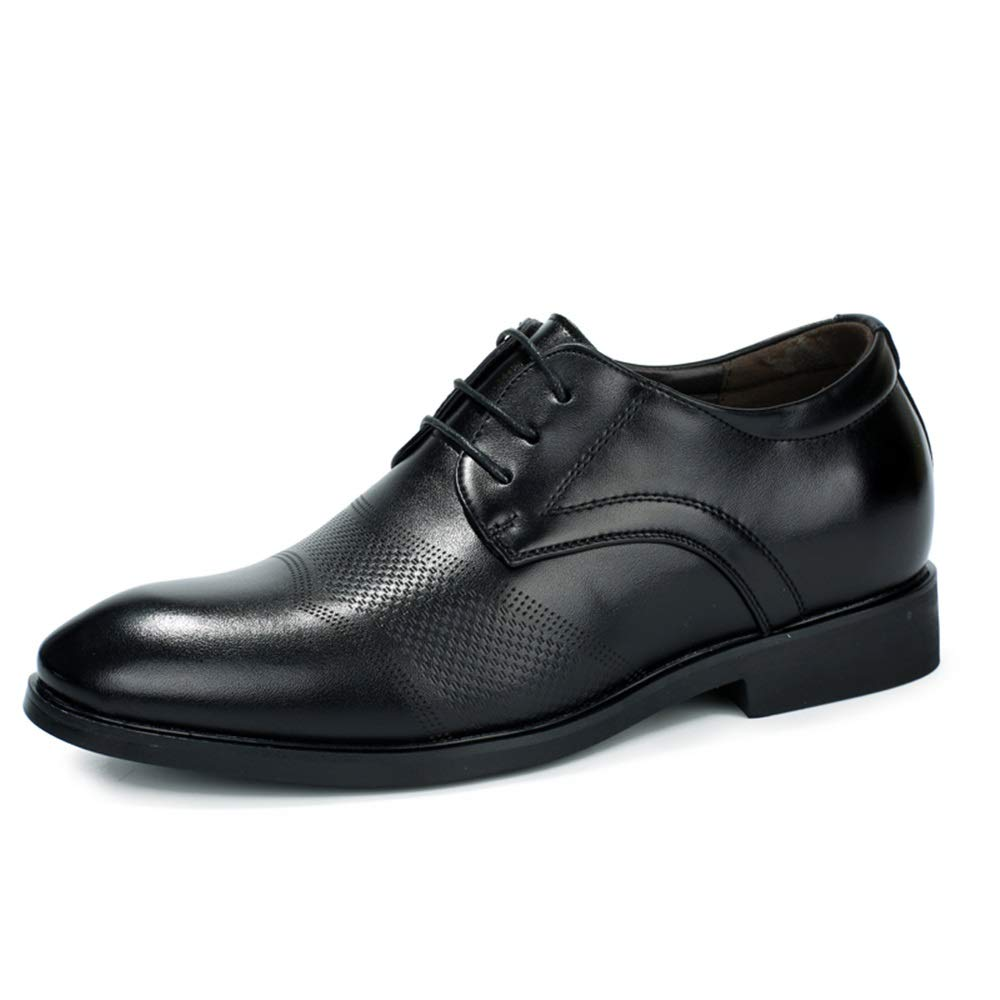 CHENDX Shoes 4cm Taller Removable Height Increasing Insole Formal Shoes Mens Casual Fashion Pointed Toe Business Oxford Carving 3//