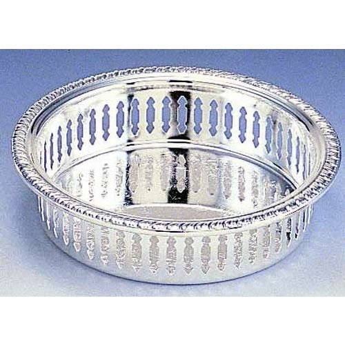 Elegance Silver Pierced Silver Plated Wine Coaster