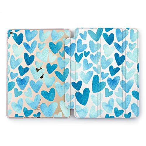 Wonder Wild Ice Heart Apple iPad Pro Case 9.7 11 inch Mini 1 2 3 4 Air 2 10.5 12.9 2018 2017 Design 5th 6th Gen Clear Smart Hard Cover Cute Love Pattern Girly Watercolor Sweet Lady Artwork Print -