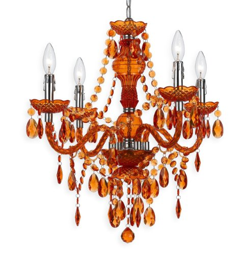 AF Lighting 8682-4H Naples Four-Light Mini Chandelier- Orange