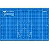 ANSIO A3 Double Sided Self Healing 5 Layers Cutting Mat Imperial/Metric 18 Inch x 12 Inch / 45cmx 30cm - True Blue / Sky Blue