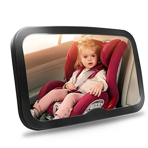 Shynerk Baby Car Mirror - Safety Car Seat Mirror for Rear Facing Infant with Wide Crystal Clear View - Shatterproof - Fully Assembled - Crash Tested and Certified