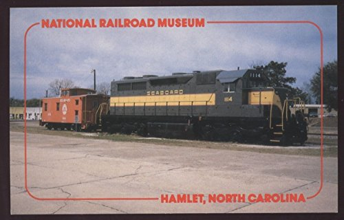 (Seaboard Air Line HAMLET SC EMD 1114 Caboose 5241 Railroad Train Postcard)