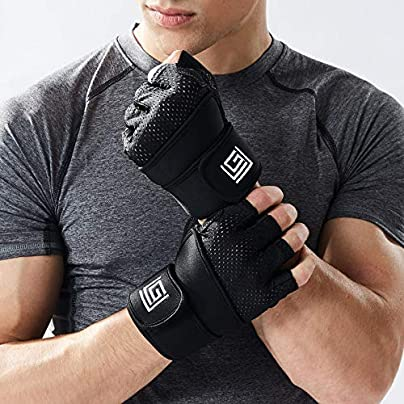 JZX Half Finger Gloves Gym For Men And Women Power Belt With Dumbbells Weightlifting Wristbands Exercise Slip Wearable Breathable Sports Cycling Gloves Estimated Price £22.20 -