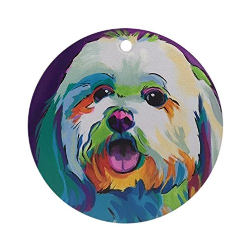 CafePress Dash The Pop Art Dog Round Holiday Christmas Ornament