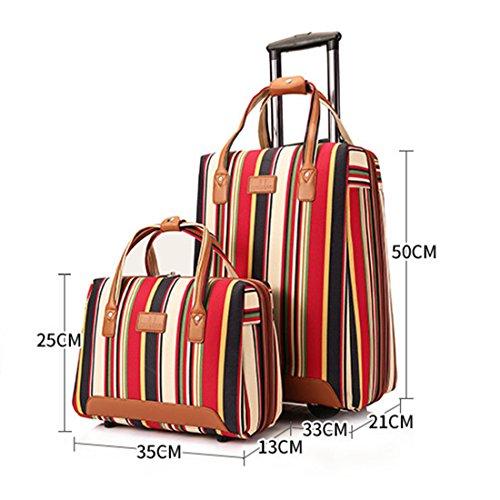 2 PCS Nylon Carry-on Suitcase Li...