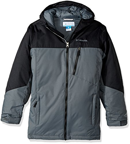 Columbia Boys Double Grab Jacket, Black/Graphite, Large by Columbia