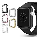 Case for Apple Watch 38mm, Alritz 5 Pack Soft TPU Protective Case Anti-Scratch Bumper Cover for Apple Watch Series 1/2/3/Nike+/Sport/Edition