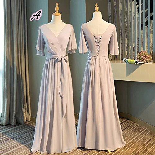 交換経営者大胆な【ノーブランド品】パーティドレス 全5タイプ ロングドレス 体型カバー 大人 ライトピンクドレス 大きいサイズ 二次会 結婚式 ワンピース 20代 30代 40代 レディース