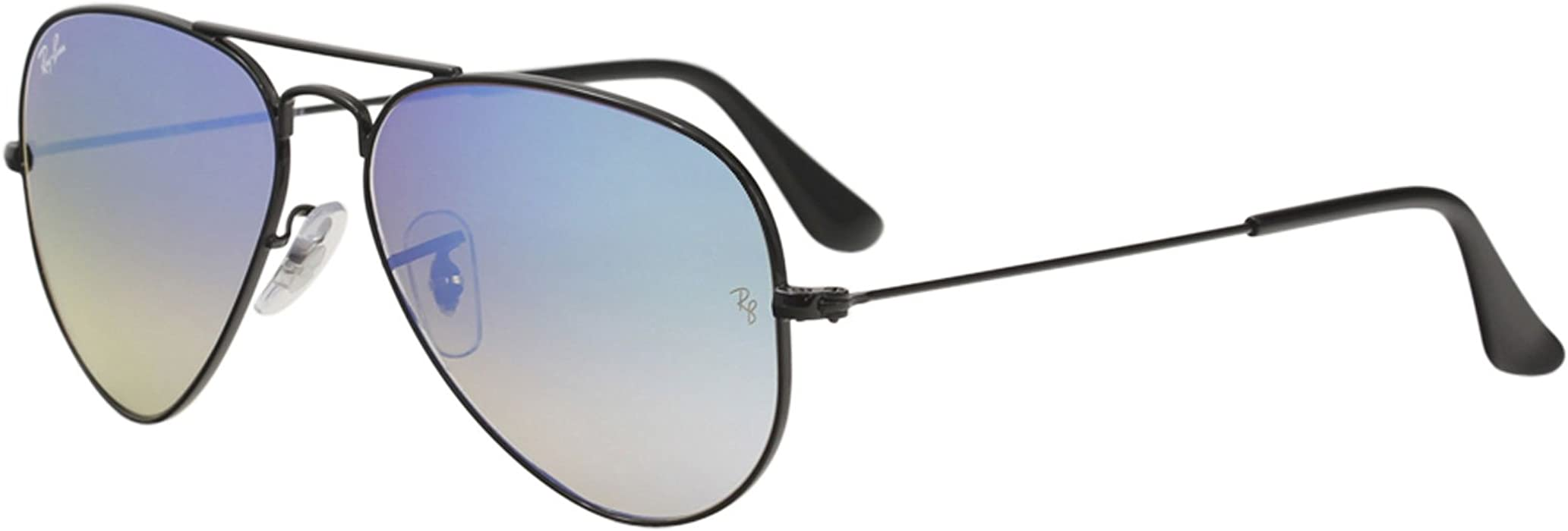 6bf369d196203 Ray Ban RB3025 Aviator Sunglasses-002 40 Black (Crystal Gray Mirror Lens)