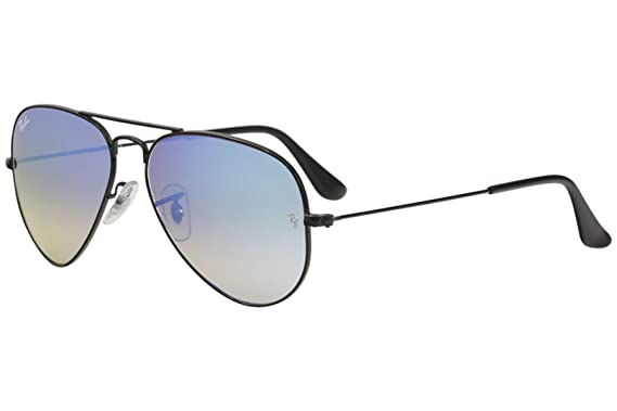 9fc975619c Ray Ban RB3025 Aviator Sunglasses-002 40 Black (Crystal Gray Mirror Lens)
