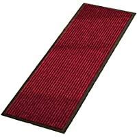 Non-Slip Stair Treads All Weather High Traffic Skid-Resistant Indoor Outdoor Floor Hallway Kitchen Runner Rug , Brick, Burgundy, 15.7 x 6.1 x 5.4 inches