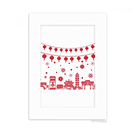 Amazon.com - DIYthinker Lantern Red Chinese Paper Cutting Pattern ...