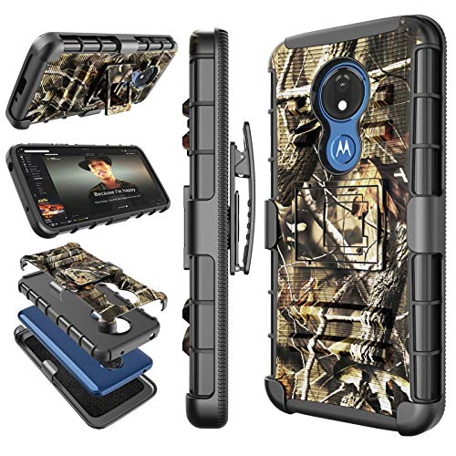 Moto G7 Power Case, Motorola Moto G7 Supra / G7 Optimo Maxx Holster Clip, Tekcoo [Hoplite] Shock Absorbing Swivel…
