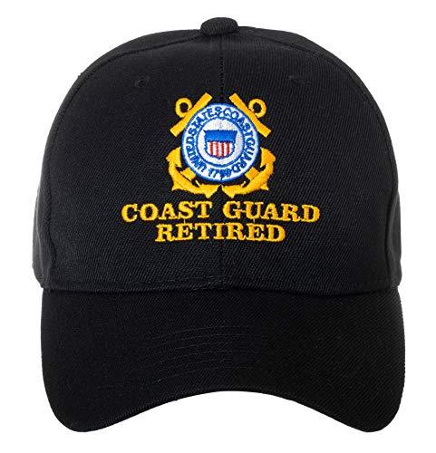 United States Coast Guard Retired Embroidered Black Adjustable Baseball Cap