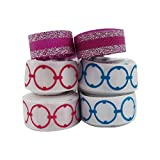 【 Ribbon King 】18 Y Solid Satin Ribbons Perfect for Cake Packing, Wedding Stylish Gift Box Floral Wrapping, Birthday Decorations, Party Supplies, Arts and Crafts (3/8'', White/Purple)