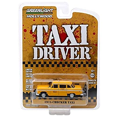 Greenlight 44860-B Hollywood Series 26 - Taxi Driver Travis Bickle's 1975 Checker Taxicab 1/64 Scale: Toys & Games