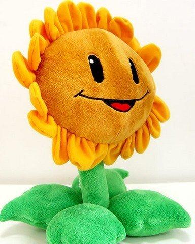 Plants-Vs-Zombies-mueca-del-juguete-de-la-felpa-de-la-mueca-de-girasol-30-Cm-de-alta-calidad-suave-felpa-corta-y-relleno-del-higth-Pp-algodn