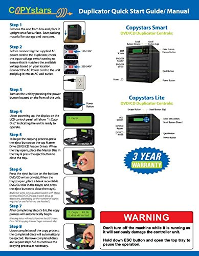 Copystars Dvd-Duplicator tower Sata 24X Asus-DVD-burner-drive 1 to 1 target CD DVD writer copier by Copystars (Image #2)