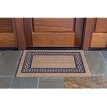 "DeCoir 41792 24""x36"" 'Charleston Border' Coir Door Mat, Medium"