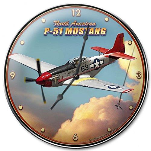 P-51 MUSTANG ROUND CLOCK (Mustang P Clock 51)