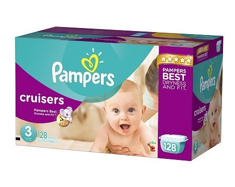 Pampers Cruisers Diapers Size 3 Giant Pack 128.0ea(pack of 2) by Diapers.com
