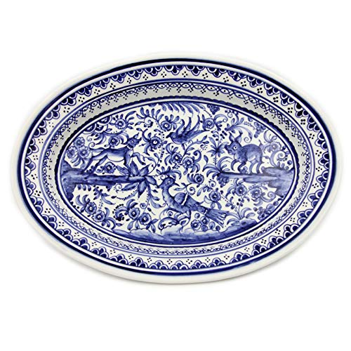 Madeira House Coimbra Ceramics Hand-Painted Decorative Platter XVII Century Replica #275/2