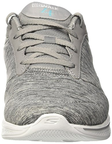 Lace Gray Skechers Women's Blue up 4 Walk Performance Go Shoe Walking xATqH