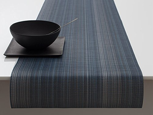 Chilewich Multi Stripe Table Runner 14 X 72 Chambray by Chilewich by Chilewich