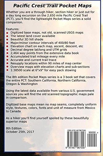 Pacific Crest Trail Pocket Maps - Oregon & Washington: K. Scott ...