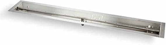 LTBSS48-NG Natural Gas 48-Inch HPC Linear Fire Pit Interlink Burner Hearth Products Controls Stainless Steel