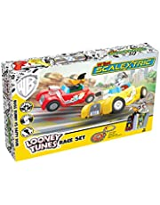 Scalextric My First Looney Tunes Bugs Bunny vs Daffy Duck Battery Powered 1:64 Slot Car Race Track Set G1141T