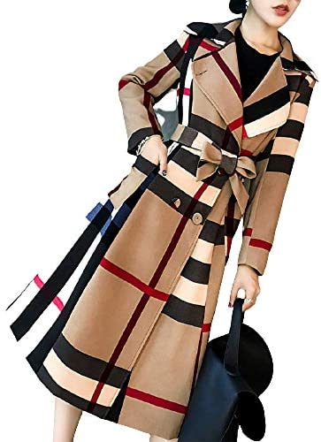 Female Autumn Winter Luxury Wool Coat Female Office Simple Solid Double Neck Crimped Female Wool Coat Long Coat