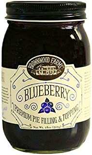 product image for Brownwood Farms Blueberry Pie Filling - 18 oz Best Made in USA Gluten-free - W/ Michigan Great Lakes Blueberries - For Chef Baking Topping - Pancake - Cheesecake - Ice cream - Yogurt (BFBF 18)