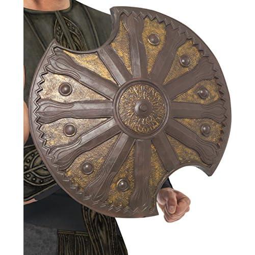 Smiffys 23992 Déguisement Homme Bouclier d'Achille Bronze, Marron, Taille Unique