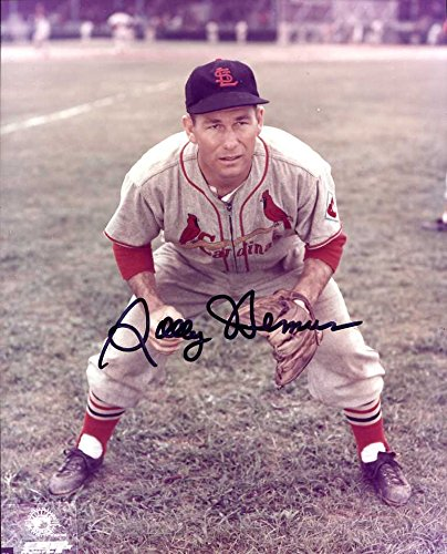 (Solly Hemus Autographed/ Original Signed 8x10 Color Photo w/ the St. Louis Cardinals)
