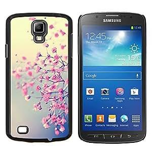 EJOOY---Cubierta de la caja de protección para la piel dura ** Samsung Galaxy S4 Active i9295 ** --Blooming floral Pétalo naturaleza Cerezo