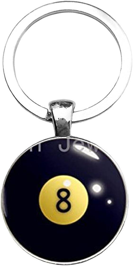 Desconocido Número 8 Bolas de Billar Llavero Negro 8 Ball Billar ...
