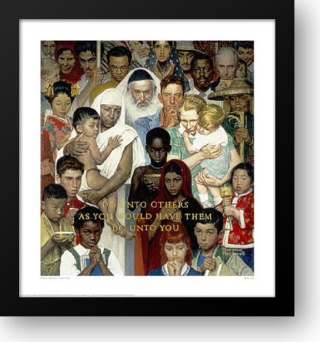 Golden Rule 28x30 Framed Art Print by Rockwell, Norman