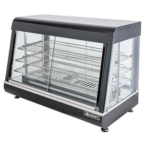 "Empura HD-26 26"" Self Service 3 Shelf Countertop Heated Display Warmer with Sliding Doors - 110V, 1500W"