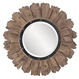 Howard Elliott 37075 Hawthorne Round Mirror, 35-Inch, Layered Natural Wood Review