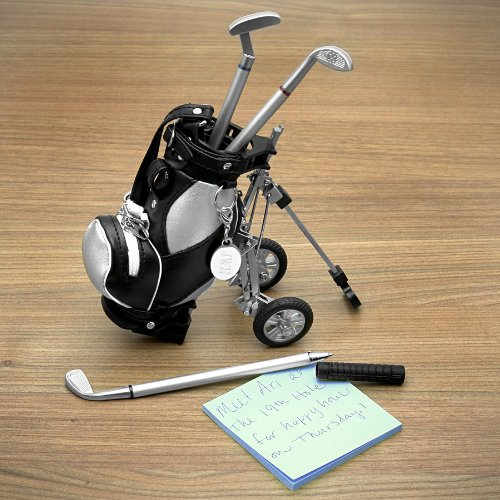 Golf Pens with Golf Bag Holder, (Engravable)