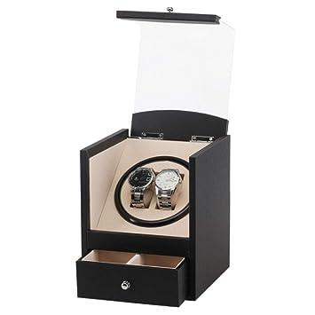 K-Y Caja para Relojes Caja para Relojes Enrollador automático de Relojes para 2 Relojes de Madera y 2 Cajas de Almacenamiento: Amazon.es: Hogar