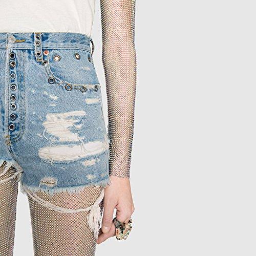 corti donna da FuweiEncore vita bassa a bassa a Blu Pantaloncini vita 5n66TO